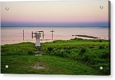 Dusk At Battle Point, Accomac, Virginia Acrylic Print