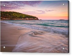 Dusk Glow At Sand Beach Acrylic Print