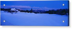 Dusk In Lyndonville, Darling Hill Road Acrylic Print by Panoramic Images