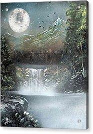 Dusk Acrylic Print by My Imagination Gallery