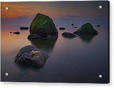 Dusk On Long Island Sound Acrylic Print