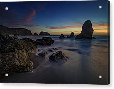 Dusk On Rodeo Beach Acrylic Print by Rick Berk