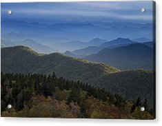 Dusk On The Blue Ridge Parkway Acrylic Print by Andrew Soundarajan