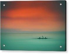 Dusk On The Lake Acrylic Print