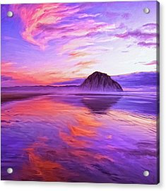 Dusk On The Morro Strand Acrylic Print