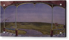 Dusk On The Porch Of The Old Victorian Acrylic Print