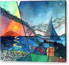 Dusk Over The Chesapeake Acrylic Print
