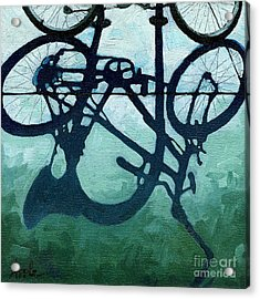 Dusk Shadows - Bicycle Art Acrylic Print