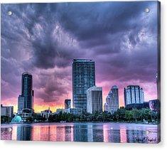 Dusky Downtown Orlando, Florida Acrylic Print