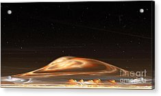 Acrylic Print featuring the digital art Dust Storm On The Red Planet by Richard Ortolano
