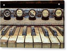Dusty Old Keyboard Acrylic Print