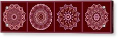 Dusty Rose Mandala Fractal Panel Acrylic Print