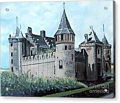 Dutch Castle In Muiden Acrylic Print