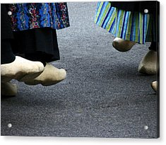 Dutch Dancers In Holland Acrylic Print by Michelle Calkins