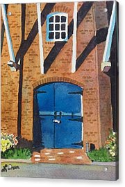 Acrylic Print featuring the painting Dutch Door by LeAnne Sowa