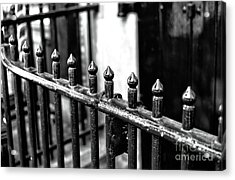Dutch Iron Mono Acrylic Print by John Rizzuto