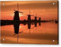 Dutch Sillhouette Acrylic Print