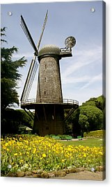 Dutch Windmill Acrylic Print by Sonja Anderson