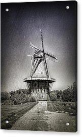 Dutch Windmill Acrylic Print by Tom Mc Nemar