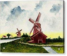 Dutch Windmills Acrylic Print by Michael Vigliotti