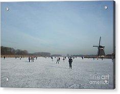 Dutch Winter Landscape Acrylic Print