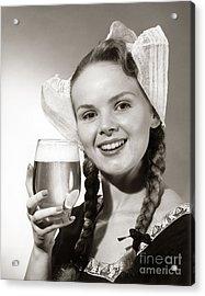 Dutch Woman With Beer, C.1950s Acrylic Print