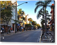 Duval Street In Key West Acrylic Print