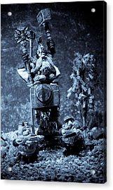 Dwarven Holy Anvil Acrylic Print by Marc Garrido
