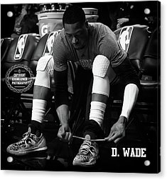 Dwayne Wade Acrylic Print by Jerome Lynch
