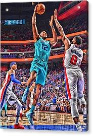 Dwight Howard Charlotte Hornets Player Art 2 Acrylic Print