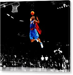 Dwight Howard Superman Dunk Acrylic Print by Brian Reaves
