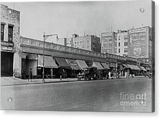 Acrylic Print featuring the photograph Dyckman Street, 1927 by Cole Thompson