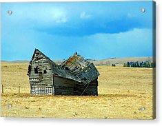 Dying Old Barn Acrylic Print by Mario Brenes Simon