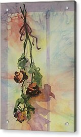 Dying Roses Acrylic Print