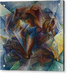 Dynamism Of A Soccer Player Acrylic Print by Umberto Boccioni
