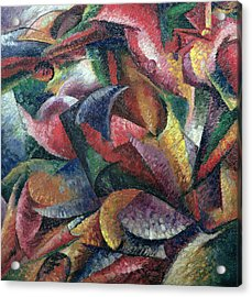 Dynamism Of The Body Acrylic Print by Umberto Boccioni