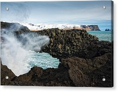 Acrylic Print featuring the photograph Dyrholaey Rock Arch Iceland by Matthias Hauser