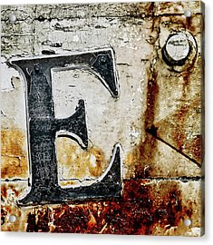 Letter E In The Rust Acrylic Print