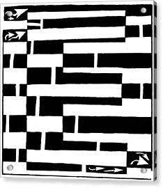 E Maze Acrylic Print by Yonatan Frimer Maze Artist