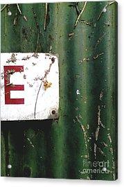 E Acrylic Print by Rebecca Harman