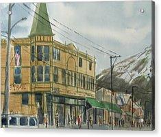 E Trail Acrylic Print by Pete Maier