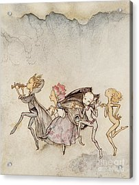 Each One, Tripping On His Toe, Will Be Here With Mop And Mow Acrylic Print by Arthur Rackham