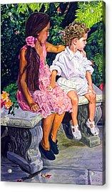Each Other Acrylic Print by David Lloyd Glover
