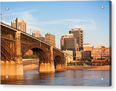 Eads Bridge At St Louis Acrylic Print by Semmick Photo