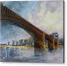 Eads Bridge - St.louis Acrylic Print