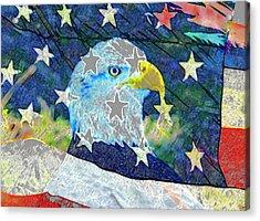 Acrylic Print featuring the digital art Eagle Americana by David Lee Thompson