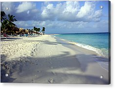 Acrylic Print featuring the photograph Eagle Beach Aruba by Suzanne Stout