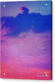 Eagle Cloud In The Sky Acrylic Print by Rose  Hill