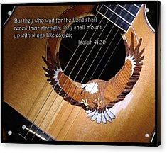 Eagle Guitar Acrylic Print by Jim Mathis