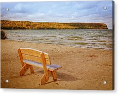 Acrylic Print featuring the photograph Eagle Harbor Summer Is Over by Heidi Hermes